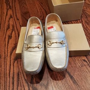 New Cole Haan Gold Loafers Shoes 8.5